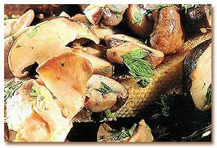 طرز درست کردن ساندویچ قارچ و سیر