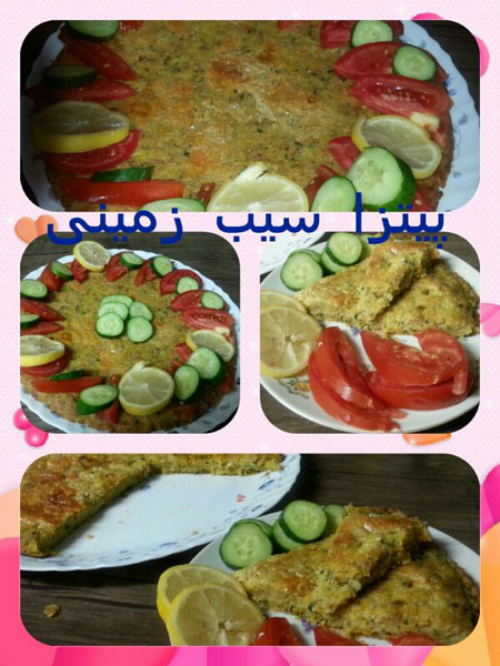 آموزش پخت پیتزا سیب زمینی