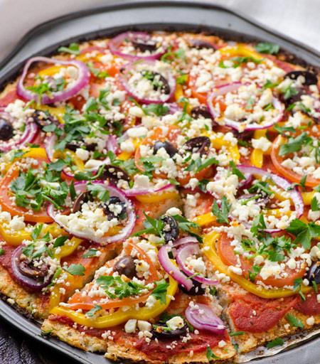 چگونه پیتزا فلفل گیاهی درست کنیم؟